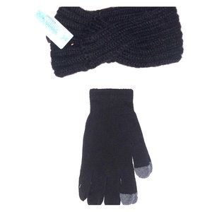 Winter headband and gloves